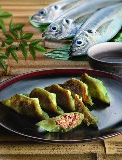 ASIAN Gyoza (dumplings with horse mackerel paste)